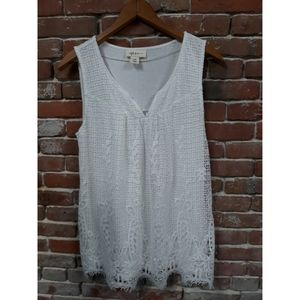 Beautiful lace embroidered TankTop